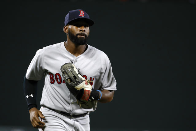 Jackie Bradley Jr. can play an excellent center, but his offense has been spotty. (AP Photo)
