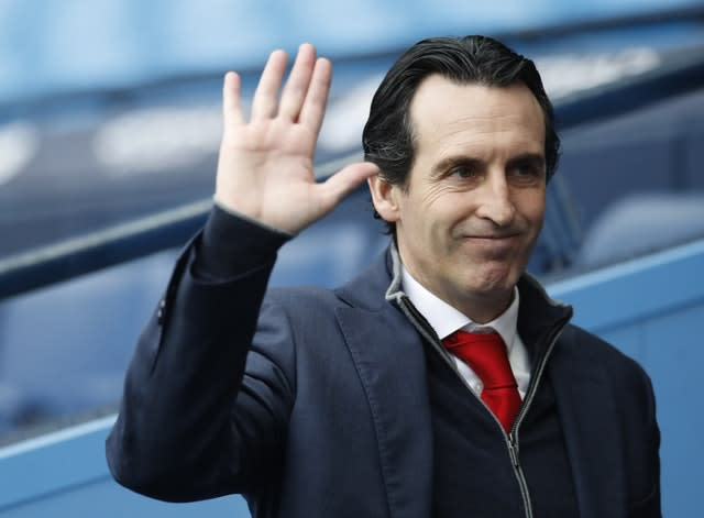Unai Emery, pictured, has been ousted at Arsenal (Martin Rickett/PA)