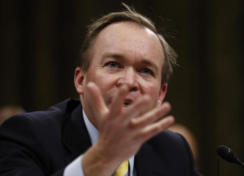 Budget Director-designate Rep. Mick Mulvaney, R-S.C. testifies on Capitol Hill in Washington, Tuesday, Jan. 24, 2017, at his confirmation hearing before the Senate Budget Committee. (AP Photo/Carolyn Kaster)