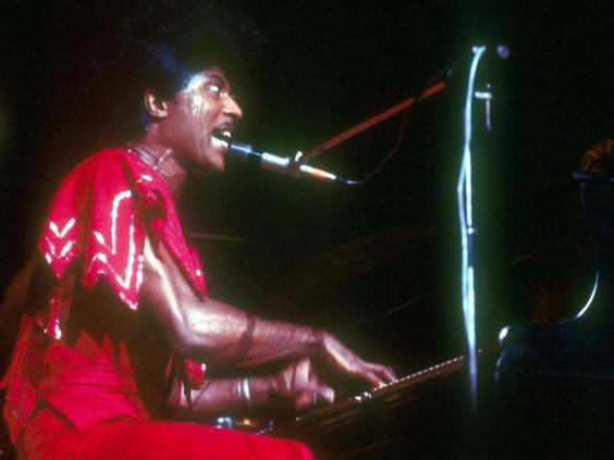 Onstage in the 1970s, as outrageous as ever (Rex Features)