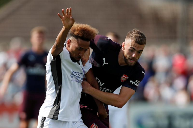 Learning the ropes: Calum Chambers against Boreham Wood: REUTERS