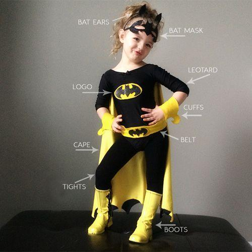 "<p>Whether your little one wants to be Batman or Batgirl this year, this costume is easily modifiable for boys and girls.</p><p><strong>Get the tutorial at <a href=""http://prettyplainjanes.com/2014/10/13/diy-batman-and-batgirl-costume/"" rel=""nofollow noopener"" target=""_blank"" data-ylk=""slk:Pretty Plain Janes"" class=""link rapid-noclick-resp"">Pretty Plain Janes</a>.</strong></p><p><strong><a class=""link rapid-noclick-resp"" href=""https://www.amazon.com/DANSHOW-Sleeve-Leotard-Toddler-Gymnastics/dp/B071NF5VZM/?tag=syn-yahoo-20&ascsubtag=%5Bartid%7C10050.g.21345654%5Bsrc%7Cyahoo-us"" rel=""nofollow noopener"" target=""_blank"" data-ylk=""slk:SHOP BLACK LEOTARD"">SHOP BLACK LEOTARD</a></strong></p>"