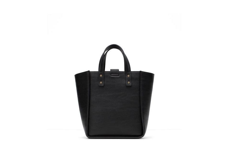 "<p>Zara Mini Shopper, $40, <a href=""http://www.zara.com/us/en/sale/woman/bags/view-all/mini-shopper-c734174p2775164.html"" rel=""nofollow noopener"" target=""_blank"" data-ylk=""slk:zara.com"" class=""link rapid-noclick-resp"">zara.com</a></p>"