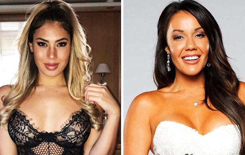 Former Bachelor star Noni Janur (L) has defended pal Davina (R), who has attracted a wave of viewer backlash following her cheating scandal on MAFS. Source: Instagram/nonijanur (L) and Channel Nine (R)