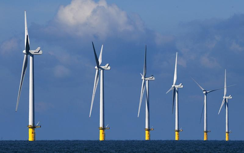 There are up to ten off shore wind farms being planned off the East of England - Getty Images Europe