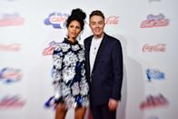 Vick Hope and Roman Kemp on the media run during day two of Capital's Jingle Bell Ball 2017 at the O2 Arena, London.