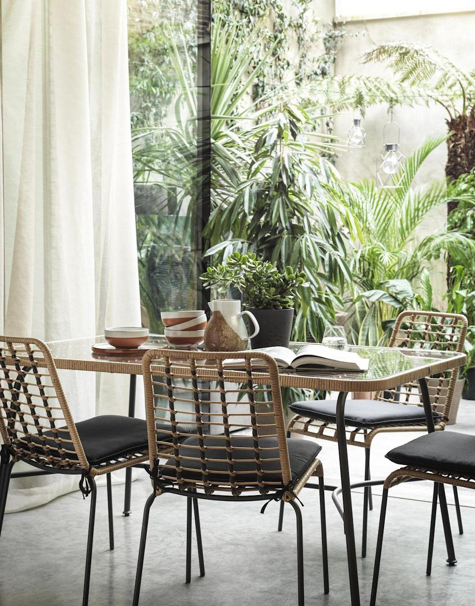 """<p>'Keep clutter to a minimum and add interest and texture through soft furnishings to maintain a light and airy feel,' suggests Helen Shaw at Benjamin Moore UK. 'Plants are the perfect finishing touch and will help to pull the pared-back scheme together without it feeling overly done.'</p><p>• Shop the look at <a href=""""https://www.habitat.co.uk/"""" rel=""""nofollow noopener"""" target=""""_blank"""" data-ylk=""""slk:Habitat"""" class=""""link rapid-noclick-resp"""">Habitat</a></p>"""