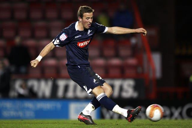 Harry Kane in action for Millwall