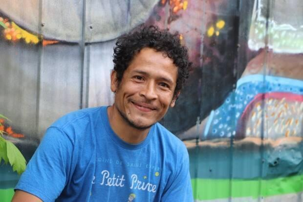 Juan Manuel Velazquez-Lopez decided he wanted to make a positive impact with his art. (Susan Campbell/CBC - image credit)