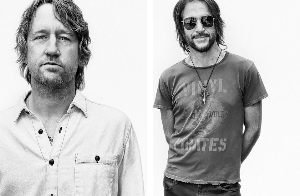 Chris Shiflett and Rami Jaffee photographed in Los Angeles on June 10th, 2021. - Credit: Photograph by Jason Nocito for Rolling Stone