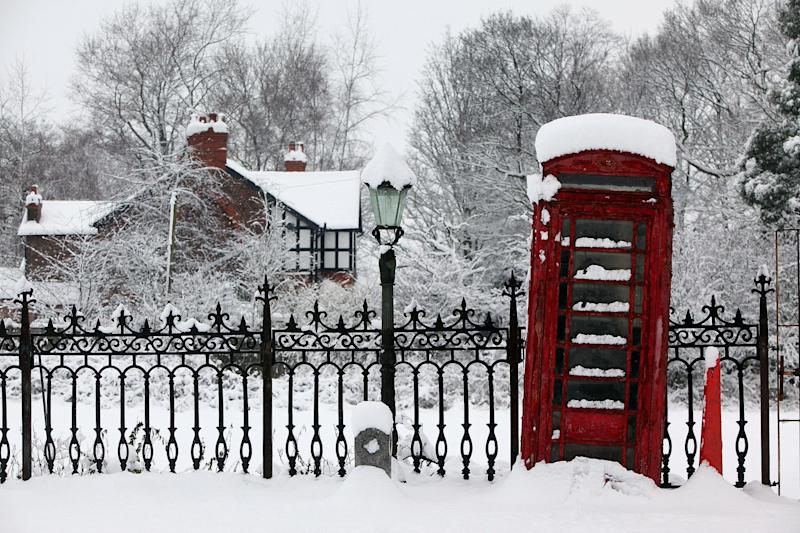 Snow in Lymm, Cheshire in 2010: Getty