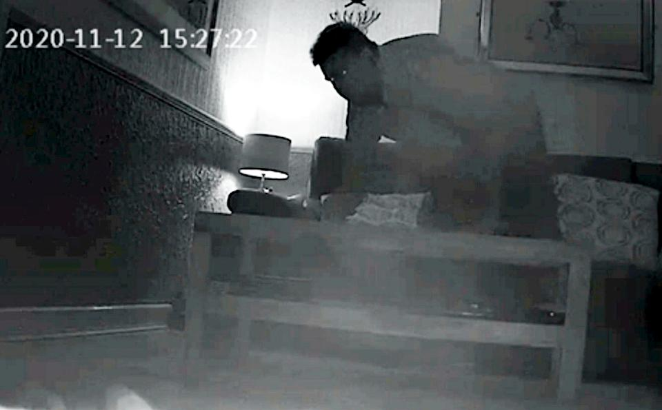 Leigh Jones installed cameras in her home to catch the culprit. (SWNS)