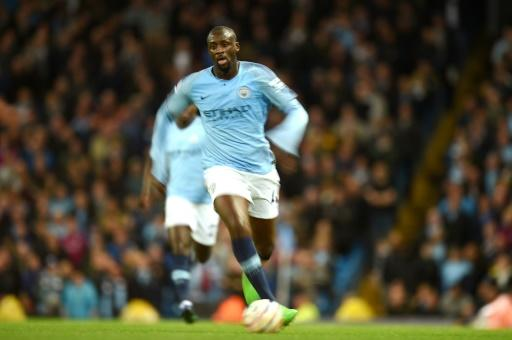 Midfielder Yaya Toure in action during his final home match for Manchester City against Brighton