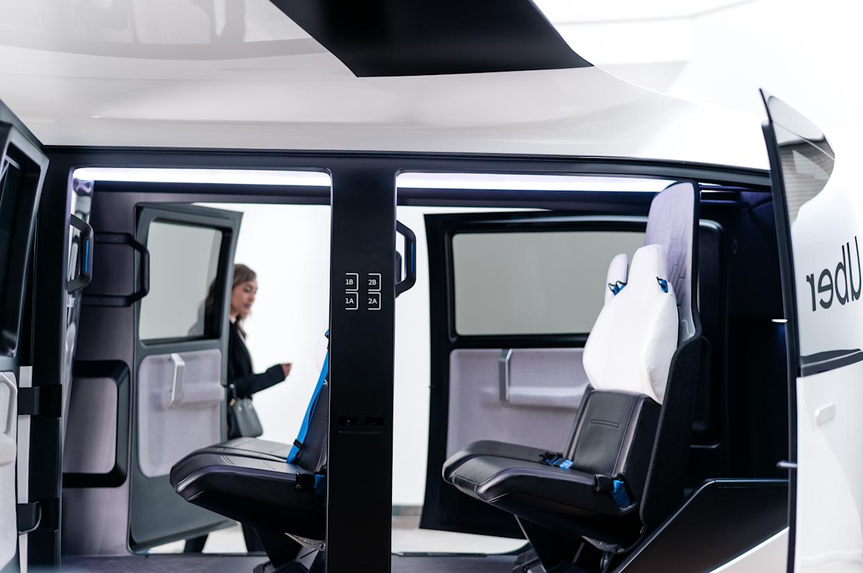 First designs of the inside of Uber Air's flying taxis