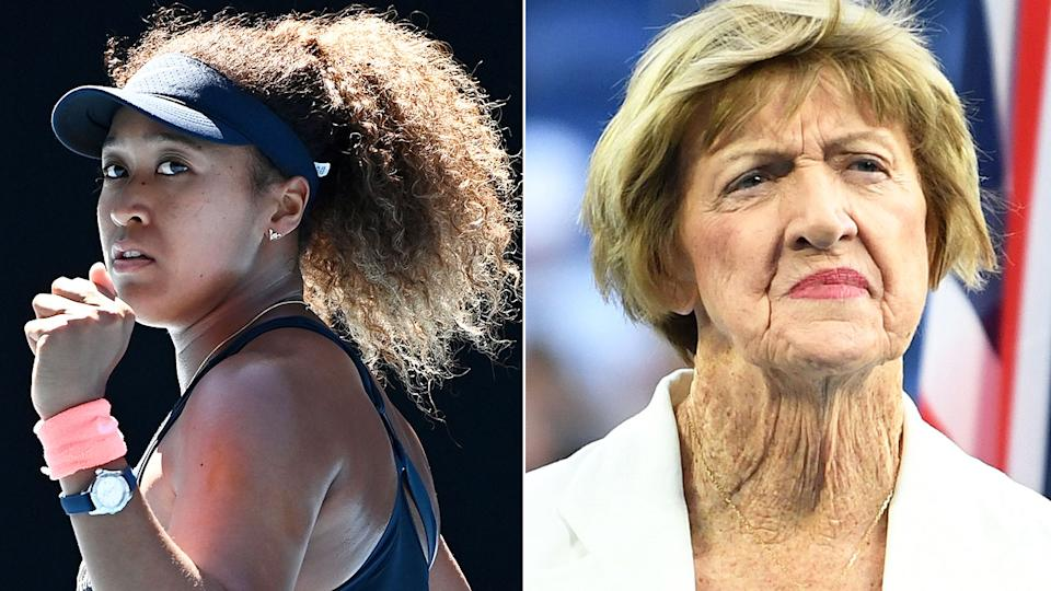 Pictured here, Naomi Osaka and Margaret Court.