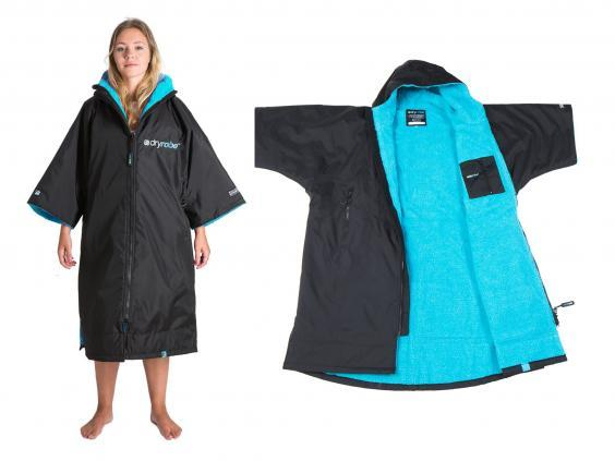 This clever loss-fitting robe allows you to change your clothes underneath while wearing it (dryrobe)
