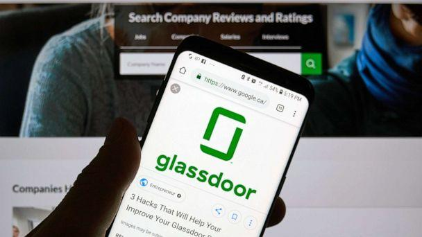 PHOTO: Glassdoor app and logo is seen here in this Dec. 23, 2018 file photo in Montreal. (Dennizn/Shutterstock)