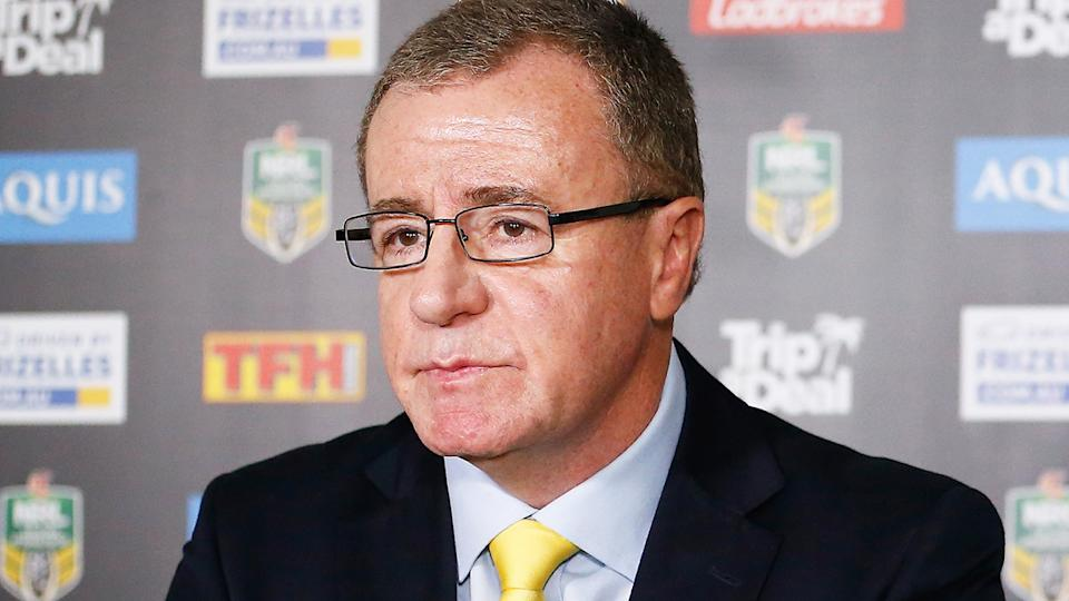 NRL referees boss Graham Annesley has confirmed the league's Bunker system is being reviewed after the initial contact approaches its end. (Photo by Jason O'Brien/Getty Images)