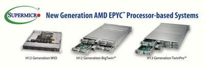 Supermicro Now Offering AMD EPYC(tm) 7002 Series Processor-based Systems
