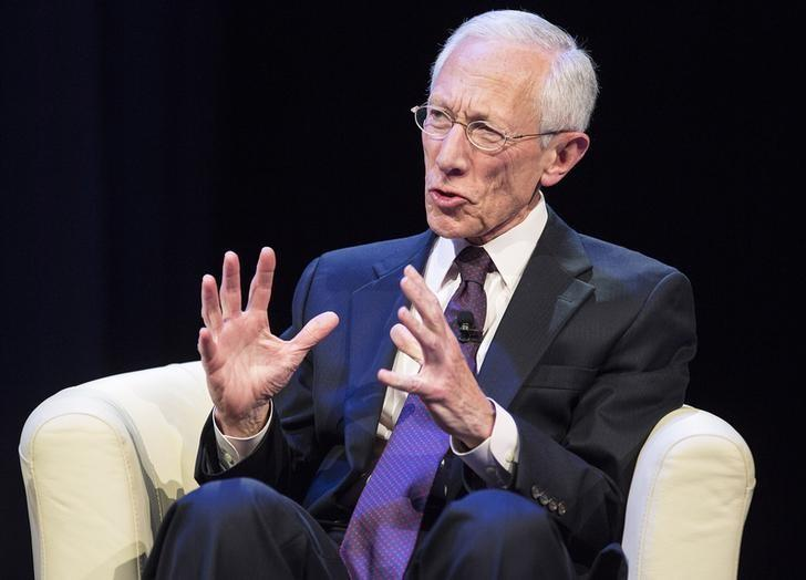 U.S. Federal Reserve Vice Chair Stanley Fischer participates in a discussion on the global economy during the World Bank/IMF Annual Meeting