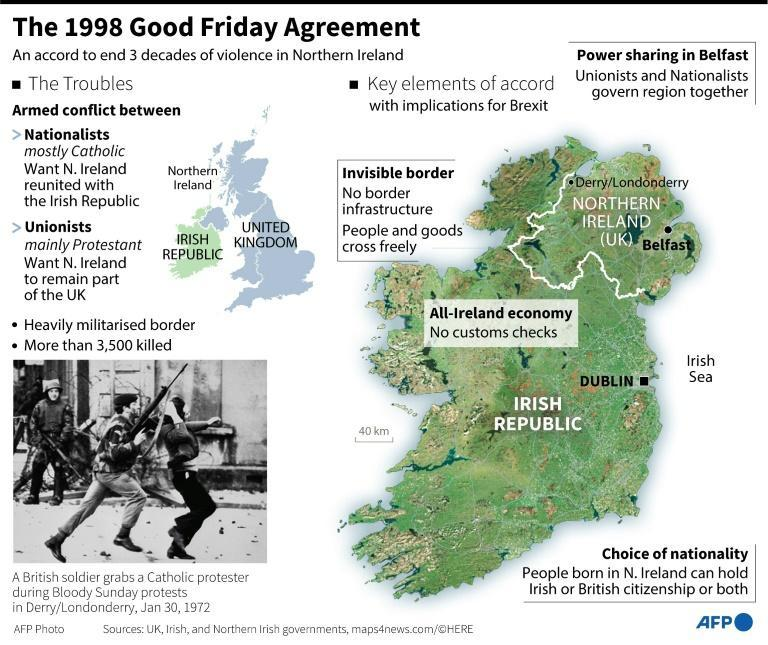 "The 1998 Good Friday agreement ended the three-decade-long ""The Troubles"" conflict"