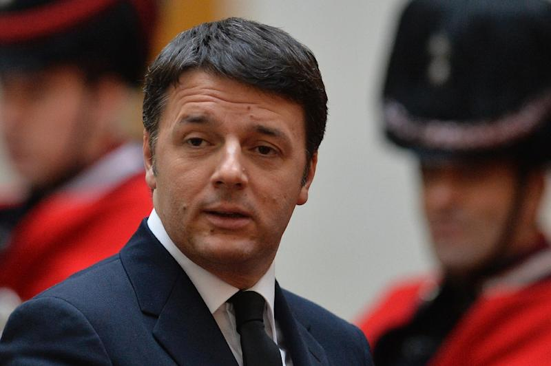 Italian Prime Minister Matteo Renzi, pictured on February 3, 2015, will meet with Cuban President Raul Castro during the first-ever visit by an Italian head of government to the island