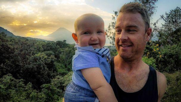 PHOTO: Shaun Bayes poses with his son, Quinn, while traveling in Central America. (Karen Edwards)
