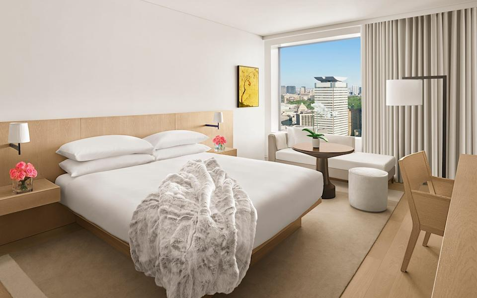 View of the city: a bedroom at the just-opened Tokyo EDITION - EDITION hotels