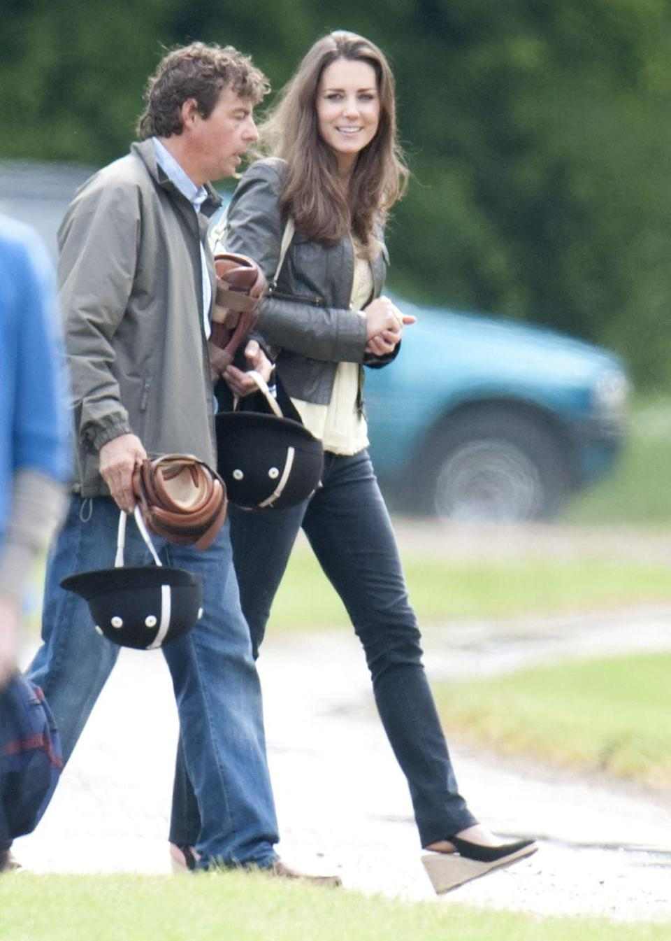 <p> Attending a charity polo match that Prince William and Prince Harry took part in at Cirencester Park Polo Club. </p>