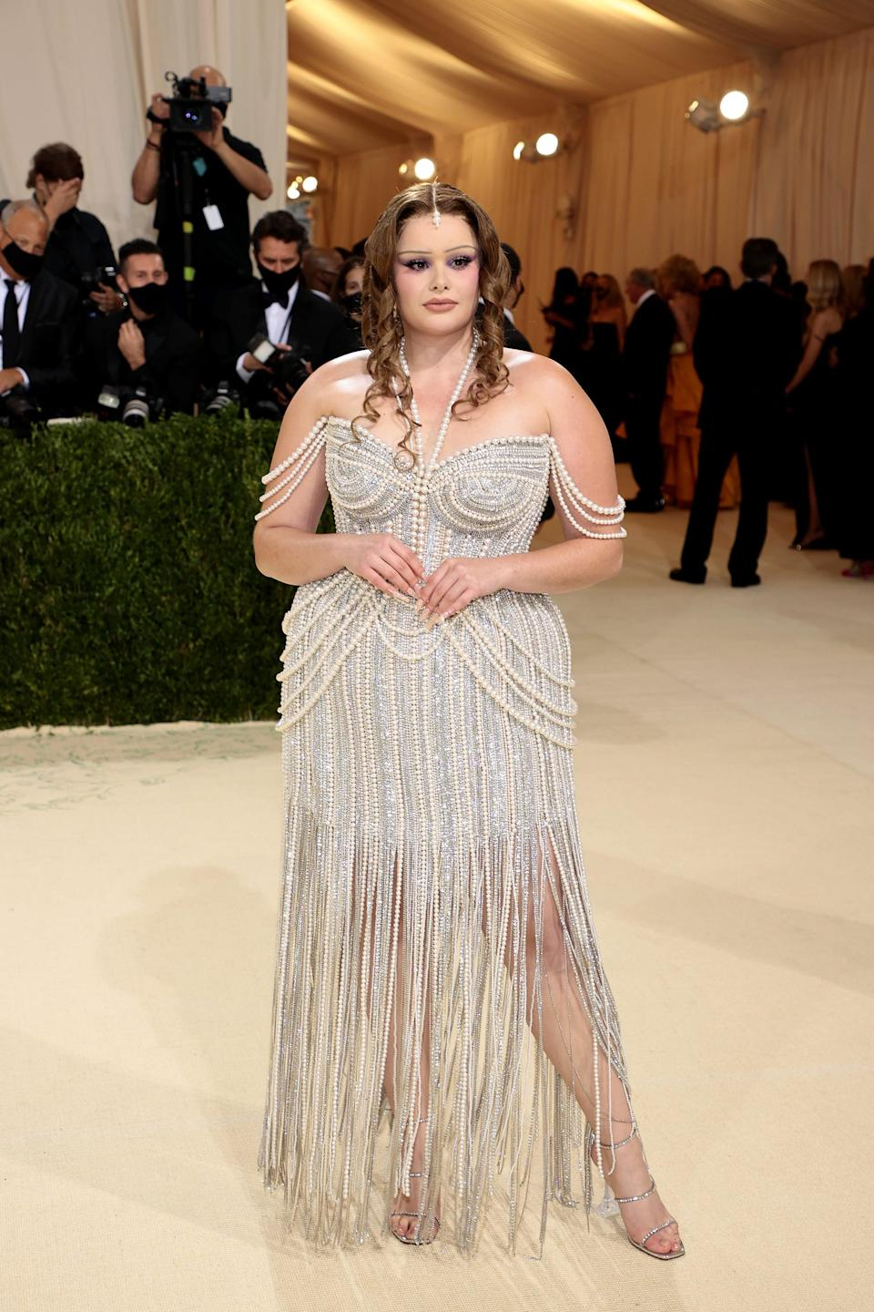 """<p>Barbie looked like a Met Gala pro in this <a href=""""https://www.popsugar.com/fashion/barbie-ferreira-at-the-met-gala-2021-48501972"""" class=""""link rapid-noclick-resp"""" rel=""""nofollow noopener"""" target=""""_blank"""" data-ylk=""""slk:pearl-covered Jonathan Simkhai confection"""">pearl-covered Jonathan Simkhai confection</a>.</p>"""