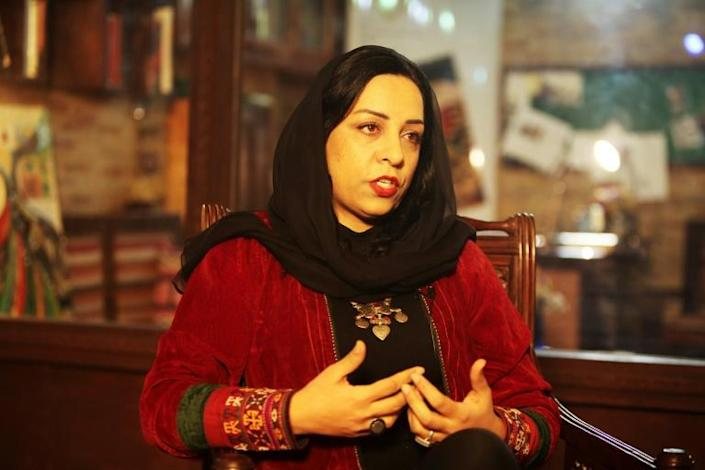 For a generation, filmmaker Roya Sadat has been a voice for Afghan women in one of the world's worst places to be one (AFP Photo/Mariam ALIMI)