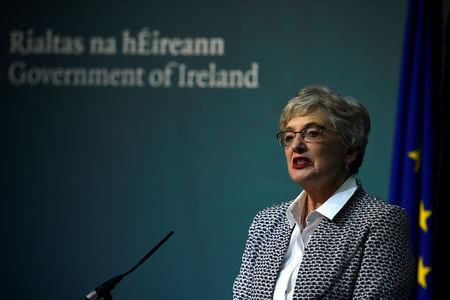 FILE PHOTO: Irish Children's Minister Katherine Zappone speaks after the Irish government announces a referendum will be held on liberalising abortion laws, January 29, 2018. REUTERS/Clodagh Kilcoyne -/File Photo