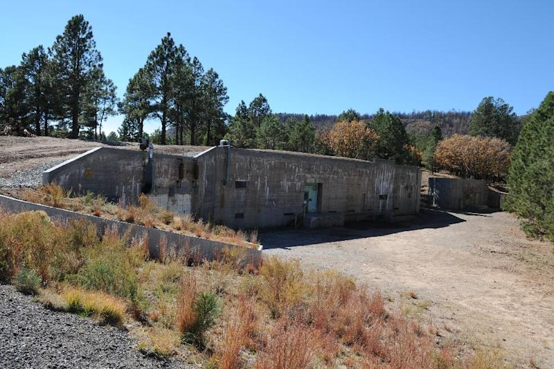"This undated image provided by the Los Alamos National Laboratory shows the ""gun site"" is where the bomb that was dropped on Hiroshima was assembled. Tucked away in one of northern New Mexico's pristine mountain canyons is this old cabin that was the birthplace not of a famous person, but a top-secret mission that forever changed the world. The iconic areas scattered in and around the modern day Los Alamos National Laboratory are being proposed as sites for a new national park commemorating the Manhattan Project. (AP Photo/Los Alamos National Laboratory)"