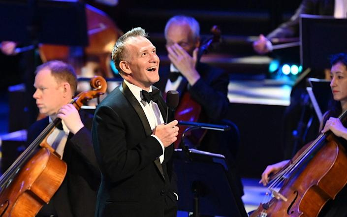 Jamie Parker, best known as Harry Potter in the original West End cast of Harry Potter and the Cursed Child, singing at Prom 2: The Golden Age of Broadway - BBC/Chris Christodoulou