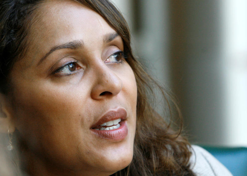 FILE - In this Oct. 10, 2007, file photo, Pulitzer Prize winning author Natasha Trethewey recalls her young years in Mississippi, during a break in her speaking schedule at Delta State University in Cleveland, Miss. Trethewey will be named the Library of Congress' 19th poet laureate Thursday, June 7, 2012.  (AP Photo/Rogelio V. Solis, File)