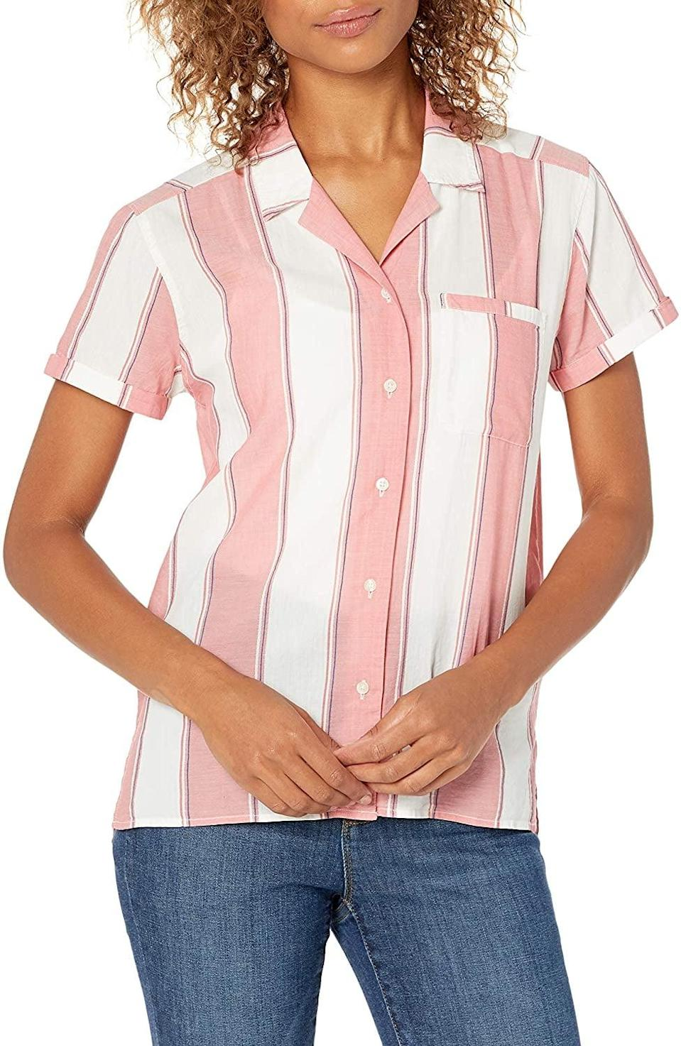 <p>This <span>Goodthreads Lightweight Cotton Dobby Camp Shirt</span> ($27) comes in all sorts of patterns.</p>