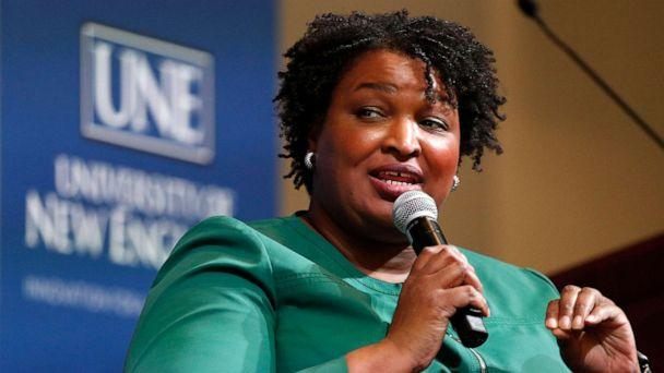 PHOTO: Stacey Abrams speaks at the University of New England, Jan. 22, 2020, in Portland, Maine. (Robert F. Bukaty/AP)