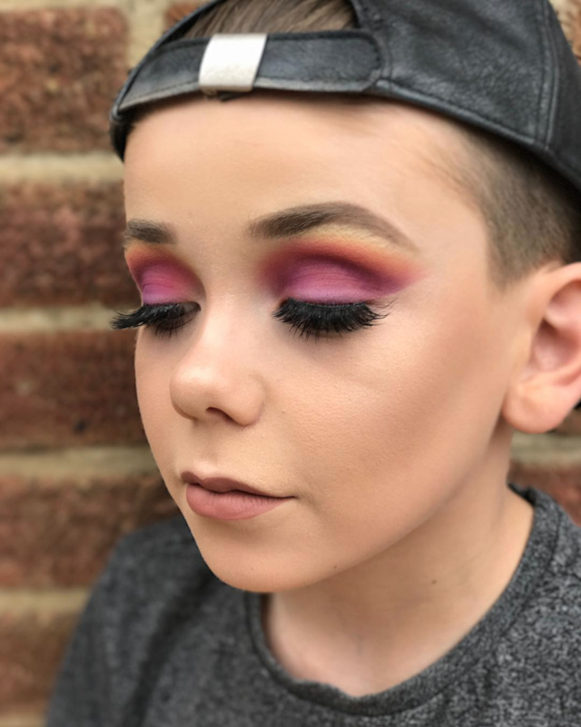 Ten-year-old Jack Bennett is carving out a name for himself in beauty circles for his makeup work. (Photo: Instagram/makeuupbyjack)