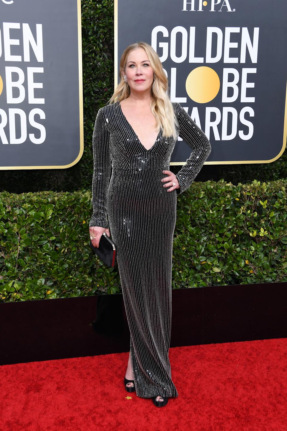 "<h1 class=""title"">Christina Applegate in Pamella Roland</h1><cite class=""credit"">Photo: Getty Images</cite>"