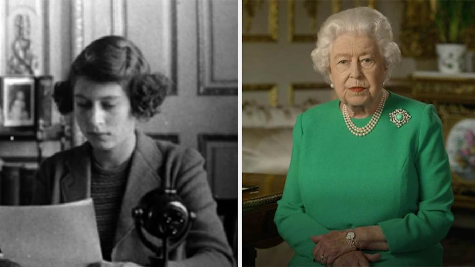 The Queen compared the address, and the dark time to WWII , when she first addressed the nation as a child. Photo: The Royal Family