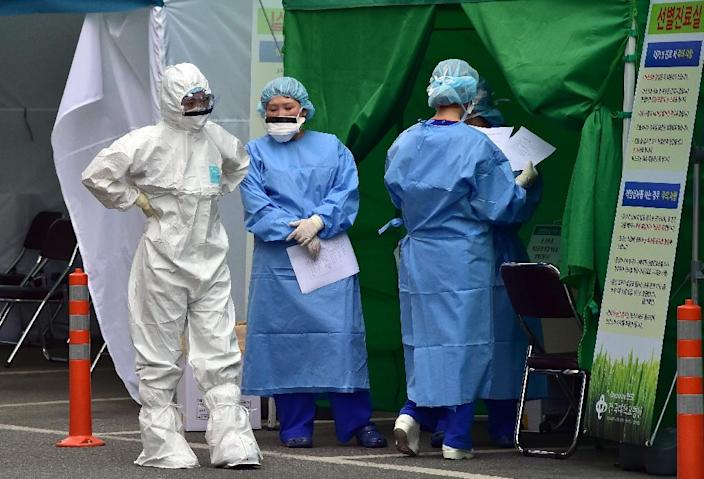 The MERS virus has caused widespread public anxiety, with more than 120,000 overseas visitors cancelling planned trips to South Korea since the outbreak (AFP Photo/Jung Yeon-Je)