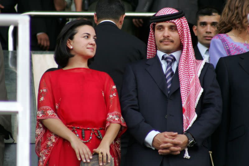 Jordan's Prince Hamza and his wife Princess Noor attend official celebrations in Amman