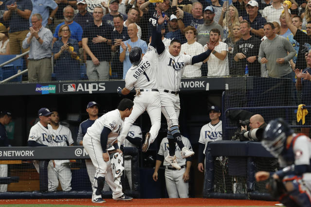 The Rays jumped on the Astros early to win ALDS Game 3 and stay alive against the Astros. (Photo by Mark LoMoglio/Icon Sportswire via Getty Images)