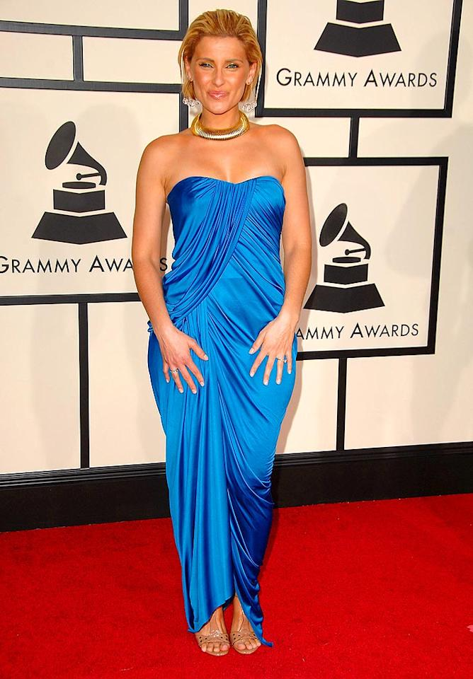 """Say It Right"" nominee Nelly Furtado was all wrong in her cropped blonde cut and ghastly blue gown. Steve Granitz/<a href=""http://www.wireimage.com"" target=""new"">WireImage.com</a> - February 10, 2008"