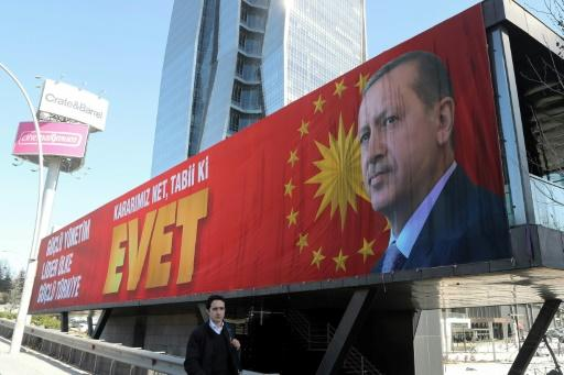 Erdogan-Banner in Ankara