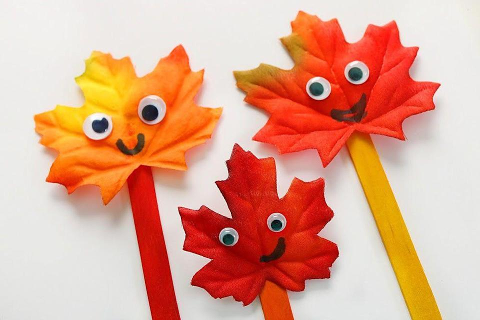 "<p>Start by creating these cute ""leaf family"" craft-stick puppets — and then check out the recommended reading for ideas on how to use them. Create your own seasonal stories!</p><p><em><a href=""https://homeschoolpreschool.net/make-leaf-family-easy-preschool-craft/"" rel=""nofollow noopener"" target=""_blank"" data-ylk=""slk:Get the tutorial at Homeschool Preschool »"" class=""link rapid-noclick-resp"">Get the tutorial at Homeschool Preschool »</a></em></p>"