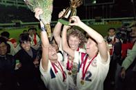"""<p>FIFA did some test runs in earlier years to see if a women's edition of the World Cup would be feasible and popular enough, and in 1991, it held <a href=""""https://www.fifa.com/womensworldcup/archive/chinapr1991/index.html"""" class=""""link rapid-noclick-resp"""" rel=""""nofollow noopener"""" target=""""_blank"""" data-ylk=""""slk:the first official tournament in China"""">the first official tournament in China</a>. In the inaugural tournament, the US took home the trophy with a 2-1 win over Norway in the final, foreshadowing the team's years as power players.</p> <p>Related: <a href=""""https://www.popsugar.com/fitness/Soccer-Player-Rose-Lavelle-Interview-46140825?utm_medium=partner_feed&utm_source=yahoo_publisher&utm_campaign=related%20link"""" rel=""""nofollow noopener"""" target=""""_blank"""" data-ylk=""""slk:Abby Wambach&apos;s Last Words of Advice to US Soccer Team Hopefuls Really &quot;Struck&quot; This Young Player"""" class=""""link rapid-noclick-resp"""">Abby Wambach&apos;s Last Words of Advice to US Soccer Team Hopefuls Really &quot;Struck&quot; This Young Player</a></p>"""