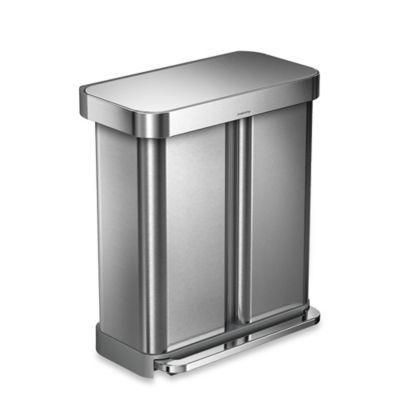 """<h3><a href=""""https://www.bedbathandbeyond.com/store/product/simplehuman-reg-dual-compartment-rectangular-58-liter-step-trash-can/3283794"""" rel=""""nofollow noopener"""" target=""""_blank"""" data-ylk=""""slk:simplehuman Dual Compartment Step Trash Can"""" class=""""link rapid-noclick-resp"""">simplehuman Dual Compartment Step Trash Can</a> ( <strong>Year-Round Bestseller)</strong></h3><p>If you're working with a shared living space, shared trash and recycling usually comes into play — so keep your waste management streamlined with a dual-purpose, stainless-steel bin that will last you for years to come.</p><br><br><strong>simplehuman</strong> Dual Compartment Step Trash Can, $199.99, available at <a href=""""https://www.bedbathandbeyond.com/store/product/simplehuman-reg-dual-compartment-rectangular-58-liter-step-trash-can/3283794"""" rel=""""nofollow noopener"""" target=""""_blank"""" data-ylk=""""slk:Bed Bath & Beyond"""" class=""""link rapid-noclick-resp"""">Bed Bath & Beyond</a>"""