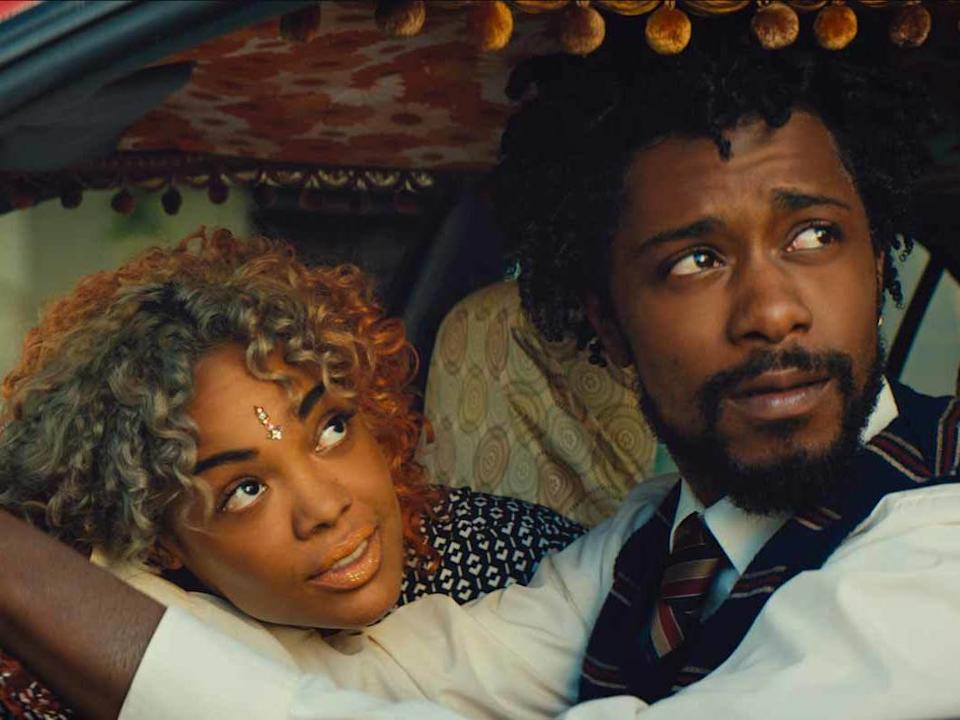 Tessa Thompson and Lakeith Stanfield in 'Sorry to Bother You' (Annapurna Pictures) Annapurna Pictures