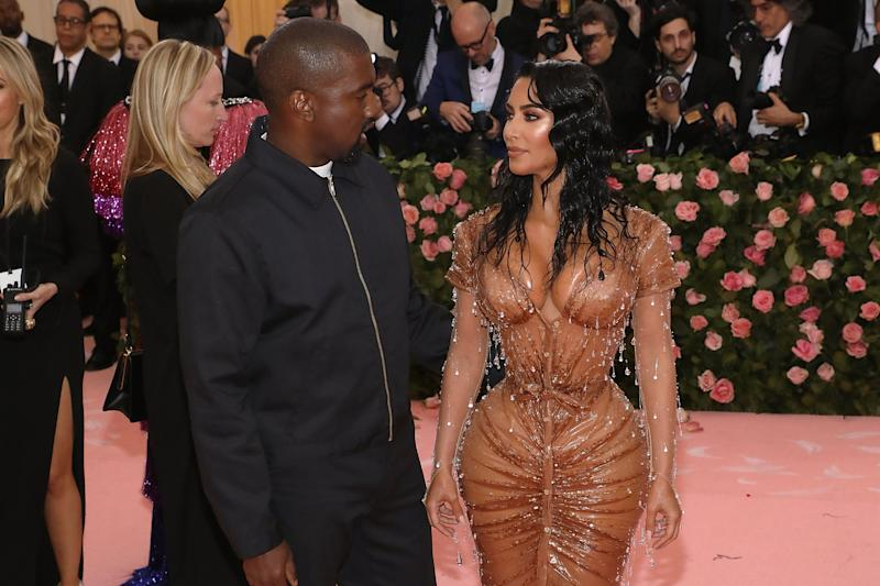 Kanye West and Kim Kardashian, pictured at the New York City MET Gala in May, 2019. (Photo: Getty Images)